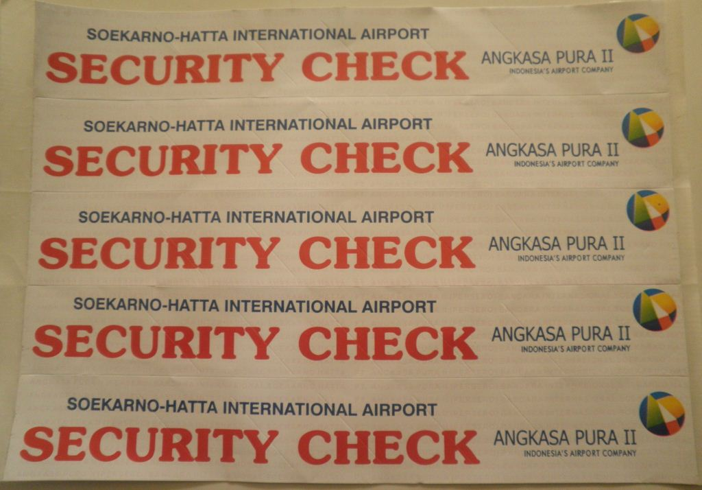STIKER SECURITY CHECK BANDARA