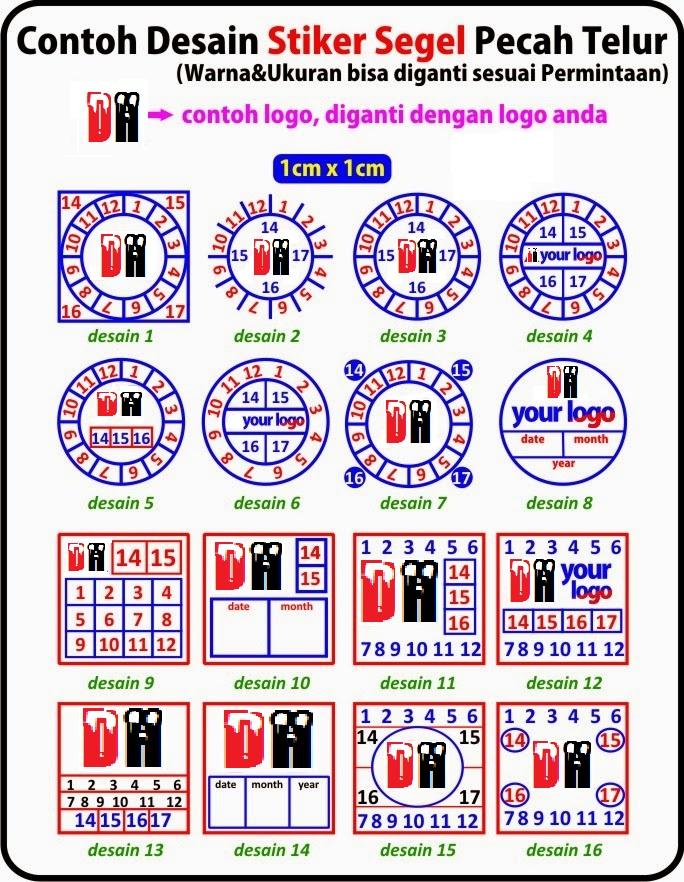 Stiker Segel Pecah Telur